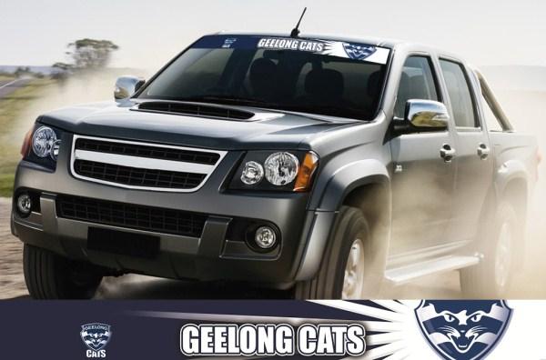 Geelong cats afl car stickers afl car accessories geelong cats i tag car sticker