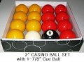 2 inch  CASINO BALL SET with 1 and 7 eights inch CUE BALL k27c