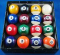 KELLY POOL BALL SET  2 and a Quarter Inch k27a-new